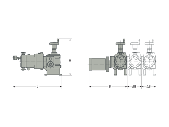 Assembly dimensions LEWA ecoflow
